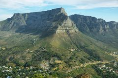 Table Mountain in Cape Town Royalty Free Stock Photo
