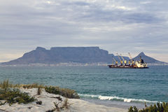 Table Mountain in Cape Town, South Africa Royalty Free Stock Photos