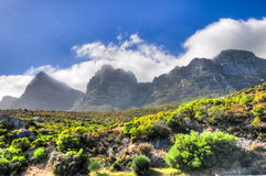 Table Mountain - Cape Town, South Africa Coast Stock Image