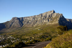 Table mountain in cape town, south africa Royalty Free Stock Images