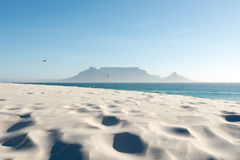 Table Mountain in Cape Town, South Africa royalty free stock image