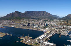 Table mountain in cape town, south africa Stock Images