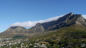 Table mountain, cape town stock footage