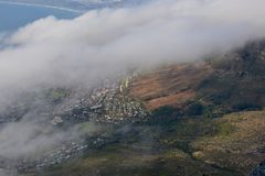 Table Mountain - Capetown. View from atop Table Mountain in Capetown, South royalty free stock photo