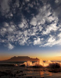 Table mountain with clouds, Cape Town Royalty Free Stock Photos