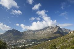 Table Mountain Clouds stock photography