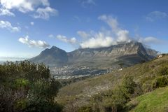 Table Mountain Clouds stock photo