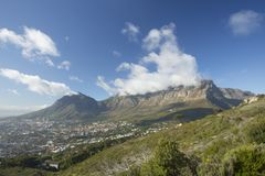 Table Mountain Clouds stock image