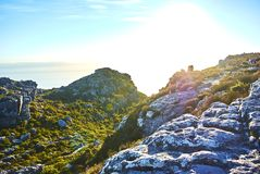 Table mountain view Cape-Town South Africa. Table Mountain National Park, previously known as the Cape Peninsula National Park, is a national park in Cape Town stock photo