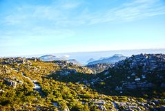 Table mountain view Cape-Town South Africa. Table Mountain National Park, previously known as the Cape Peninsula National Park, is a national park in Cape Town royalty free stock photography