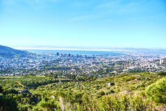 Table mountain view Cape-Town South Africa. Table Mountain National Park, previously known as the Cape Peninsula National Park, is a national park in Cape Town royalty free stock images