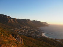 Table Mountain national park view, Cape Town, South Africa. Royalty Free Stock Photography