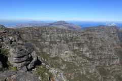 Table Mountain near Cape Town in South Africa Royalty Free Stock Photo