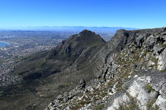 Table Mountain near Cape Town in South Africa Royalty Free Stock Image