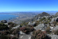 Table Mountain near Cape Town in South Africa Stock Photography