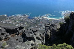 Table Mountain near Cape Town in South Africa Royalty Free Stock Images
