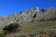 Table Mountain near Cape Town in South Africa Royalty Free Stock Photos