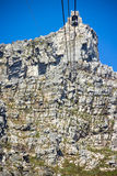 Table mountain. 7 new world wonders inside of Cape Town city Stock Photo