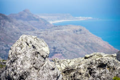 Table mountain. 7 new world wonders inside of Cape Town city Royalty Free Stock Images