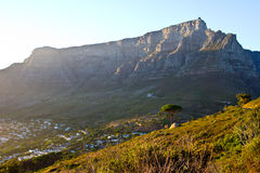 Table Mountain On A Sunny Day Royalty Free Stock Images