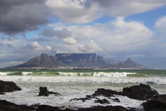 Table Mountain on an Overcast Day 3 Royalty Free Stock Images