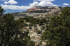 Table Mountain from Powell Point near Escalante Utah USA Stock Image
