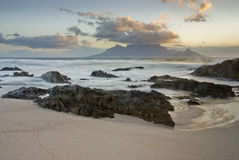 Table Mountain and rocks Royalty Free Stock Image