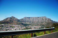 Table Mountain from Signal Hill. Iconic Table Mountain, shot from Signal Hill Stock Images