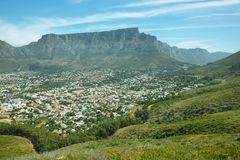 Table Mountain from signal hill Royalty Free Stock Images
