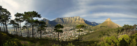 Table Mountain from Signal Hill Royalty Free Stock Image