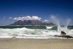 Table mountain spring Royalty Free Stock Photos