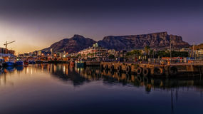 Table  mountain at sunrise Royalty Free Stock Photography