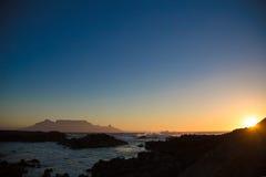 Table Mountain Sunset Stock Photos