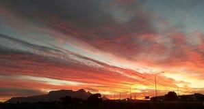 Table Mountain Sunset Stock Photo