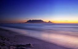 Table Mountain. Sunset image of Table Mountain from Blaawberg Royalty Free Stock Photos