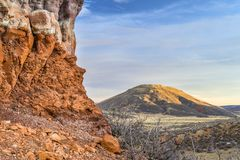 Table Mountain in sunset light Stock Photo