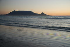 Table Mountain view from Blouberg Royalty Free Stock Photos
