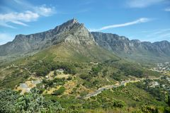 Table Mountain and twelve apostles Stock Images