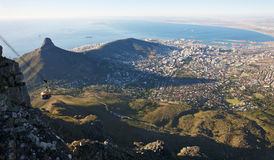 Table Mountain view. South Africa, Cape Town seen from Table Mountain Stock Photos
