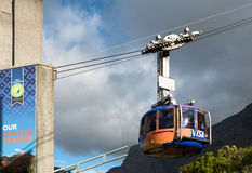 Table Mountain view with cable car in Cape Town, South Africa Royalty Free Stock Photography