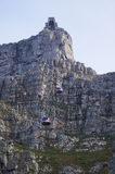 Table mountain view with cable car in Cape Town,South Africa. Royalty Free Stock Photos