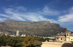 Table Mountain building in foreground Royalty Free Stock Photo