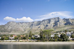 Table Mountain view from the reservoir Royalty Free Stock Images