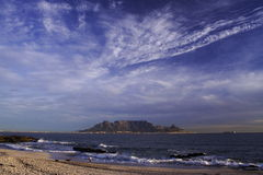 Table mountain wide shot Royalty Free Stock Photography