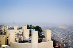 Table at Nahargarh fort in Jaipur Royalty Free Stock Photos