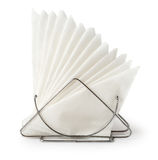 Table napkin holder with napkins Stock Image