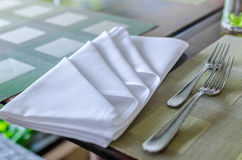 Table napkin (Piece of table linen) Stock Images