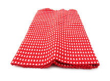Table napkin red and white Stock Image
