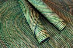 Table napkins. Beautiful green handmade table napkins Stock Photo