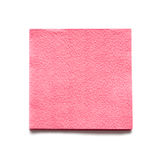 Table napkins from a paper of pink colour Stock Images